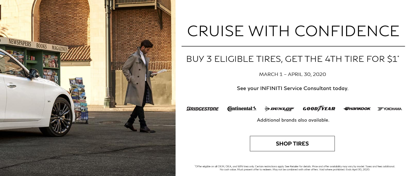 Buy 3 Eligible Tires, Get the 4th for $1