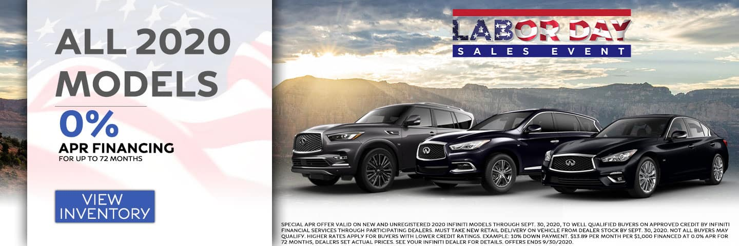0% APR Financing for up to 72 Months on all 2020 Models