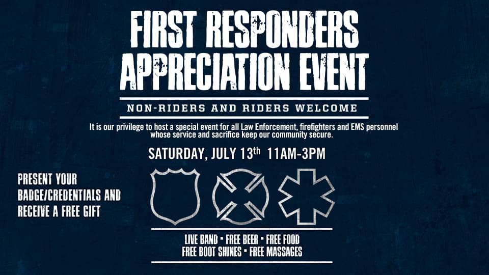 First Responders Event Graphic