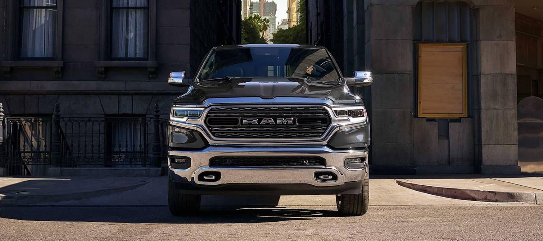 Black Ram Parked Truck