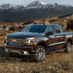 2020 chevrolet silverado black exterior parked outside in field