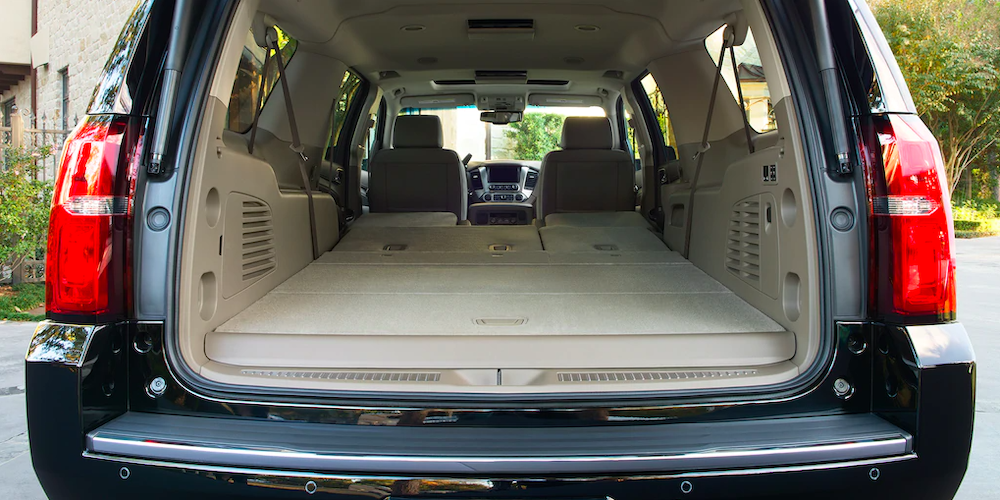 2020 chevrolet suburban interior image rear view or trunk view shot