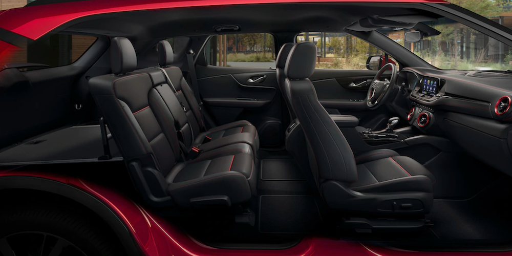 2021 Chevy Blazer Black Leather Interior image