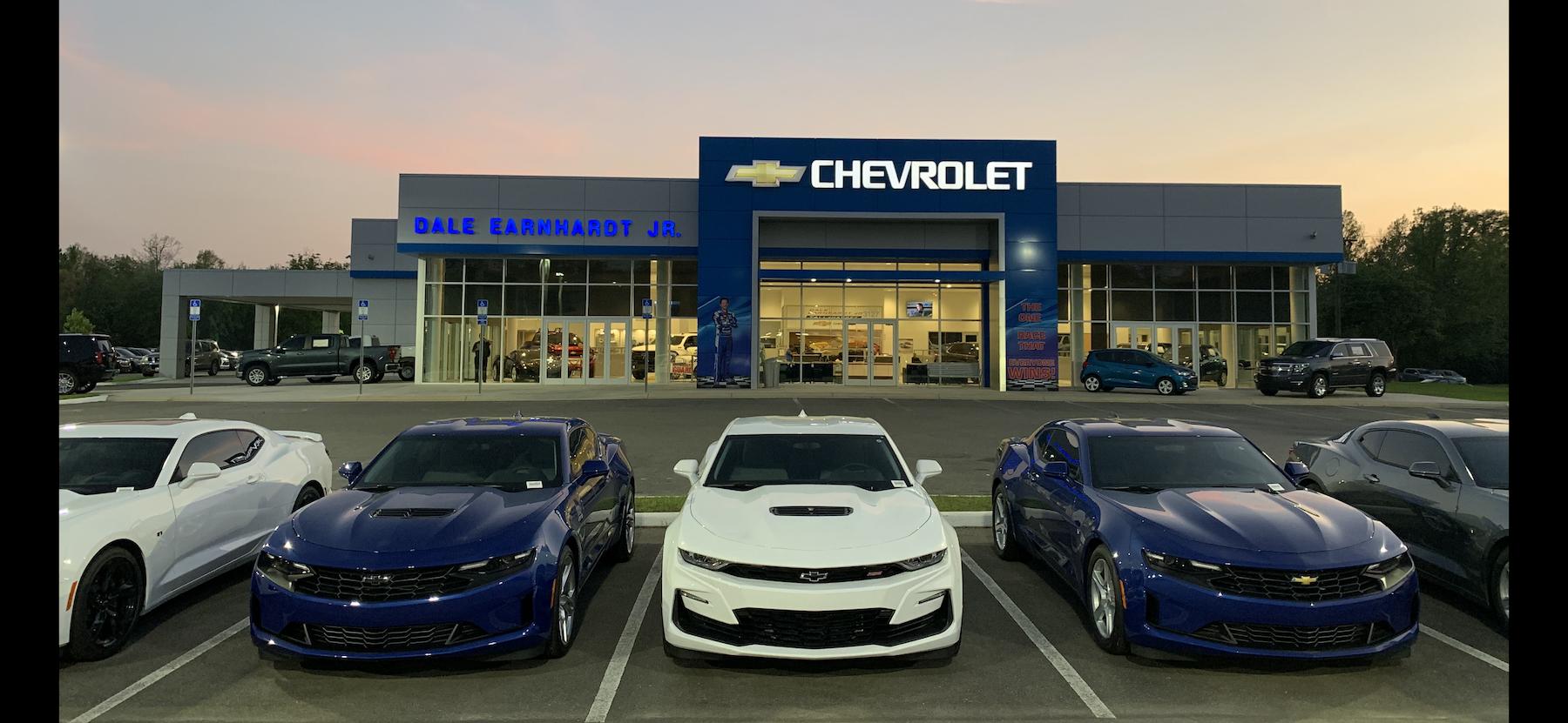 An exterior shot of Dale Earnhardt Jr Chevrolet