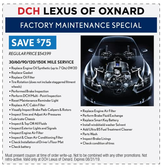 Factory Maintenance Special - Save $75