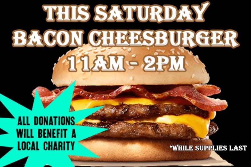 A bacon cheeseburger