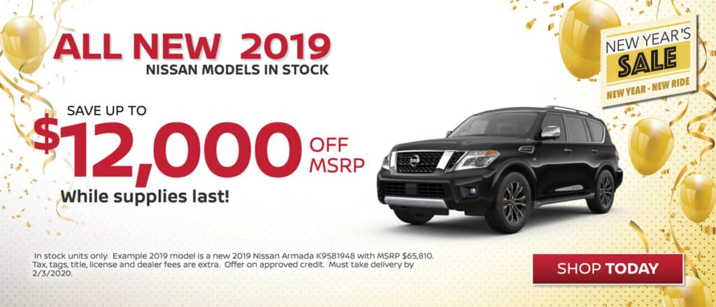 Save on All New 2019 Nissans