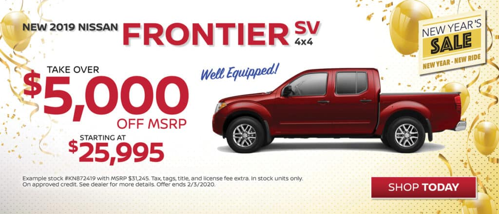 Save on New 2019 Nissan Frontier SV