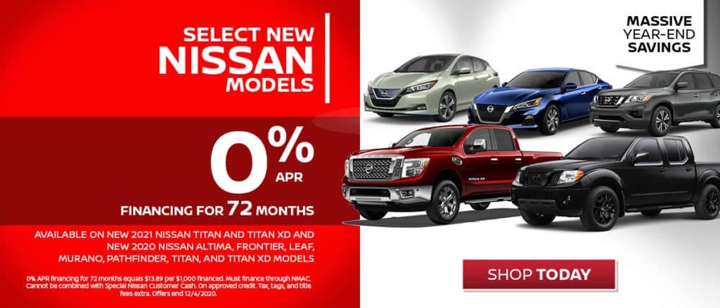 0% Financing Available on Select New Nissans