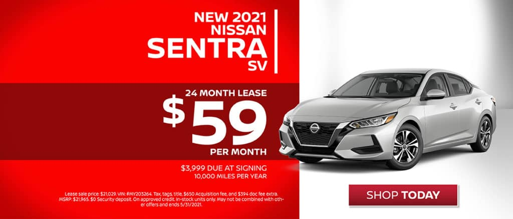New 2021 Nissan Sentra Lease