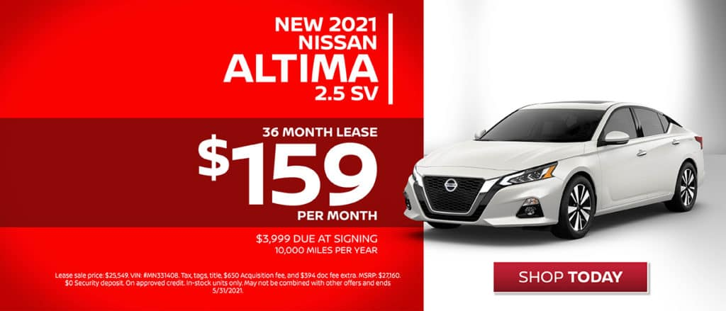 New 2021 Nissan Altima Lease