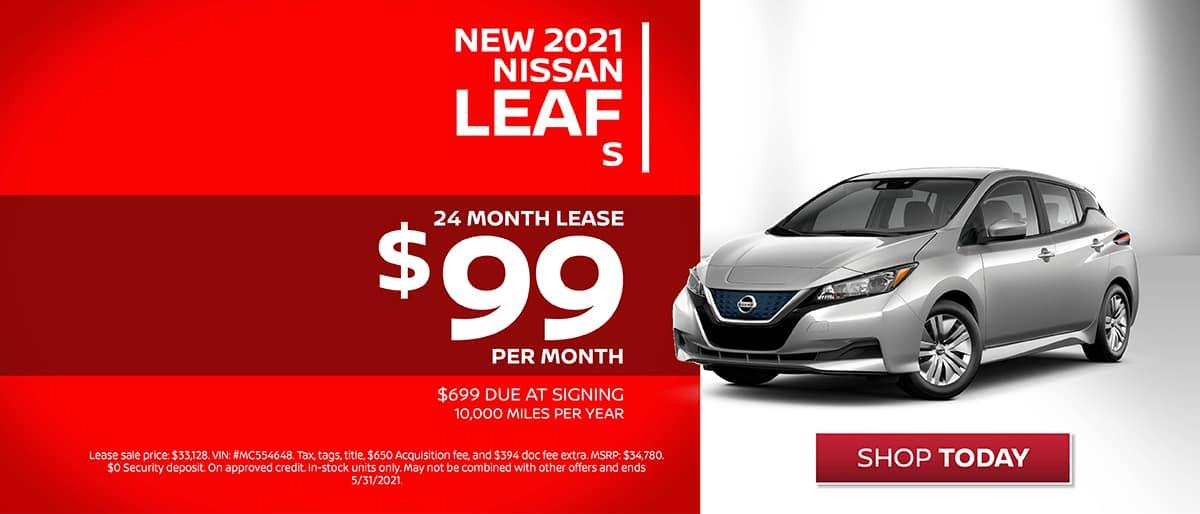Shop New 2021 Nissan Leaf