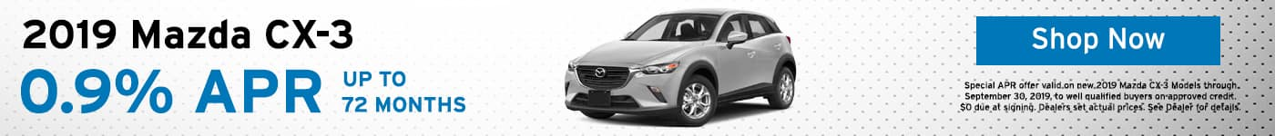 2019 Mazda CX-3 lease special