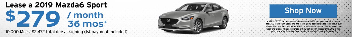 2019 Mazda6 Sport leases special