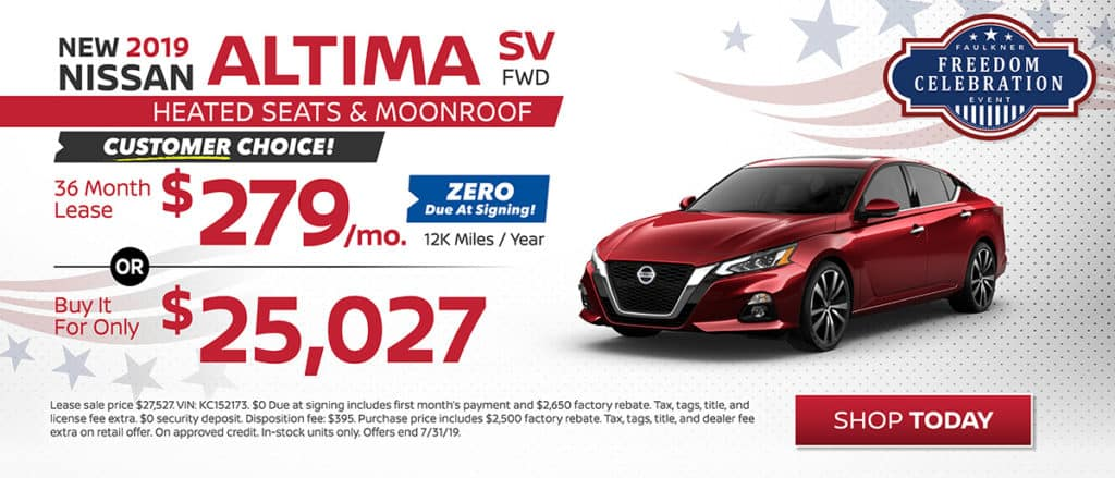 Altima Offer July