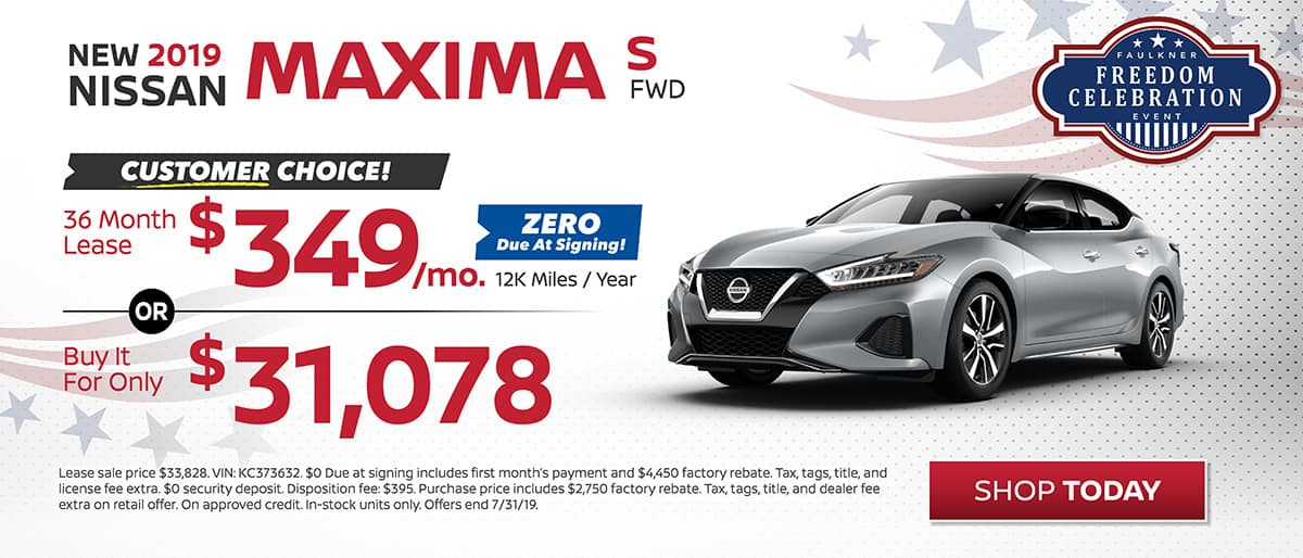 Maxima buy or lease July
