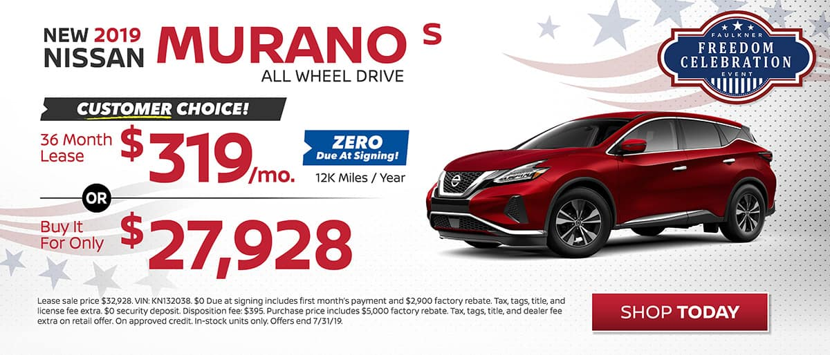 Murano buy or lease July