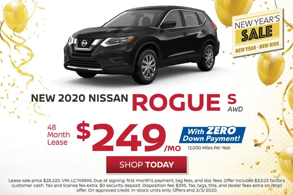 Lease a New 2020 Nissan Rogue