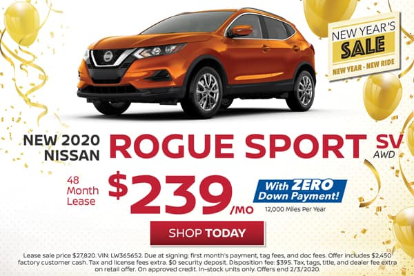 Lease a New 2020 Nissan Rogue Sport