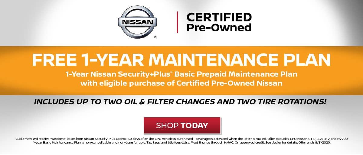 Nissan Maintenance Plan