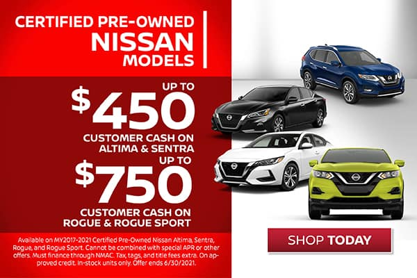 Certified Pre-Owned - Nissan Customer Cash