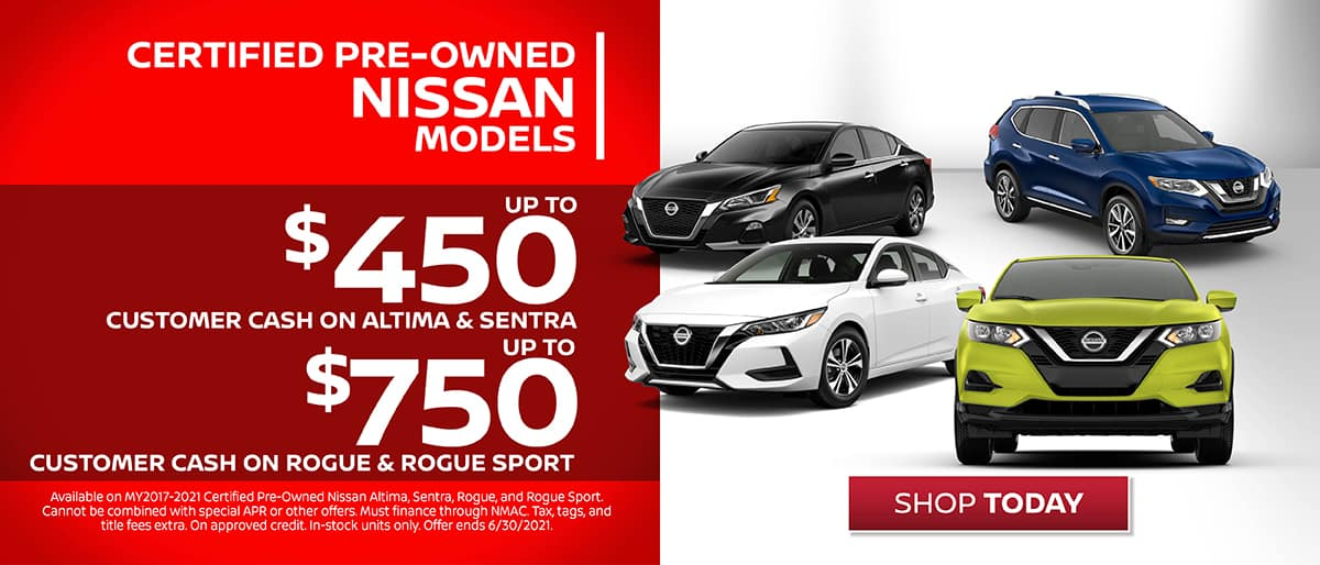 Shop Nissan Certified Pre-Owned Customer Cash