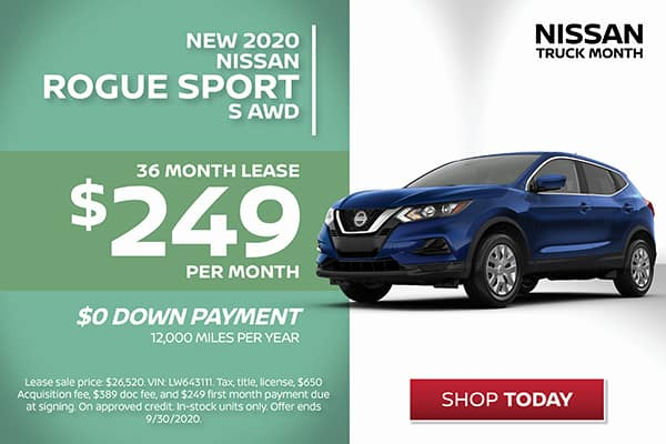 Rogue Sport Lease Special