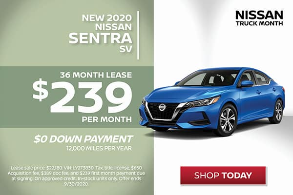 Sentra Lease Special