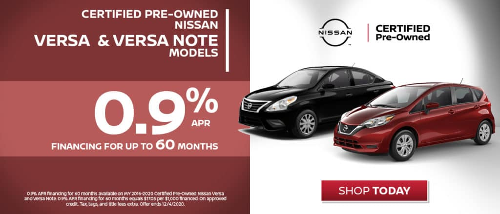 Certified Pre-Owned - Versa and Versa Note