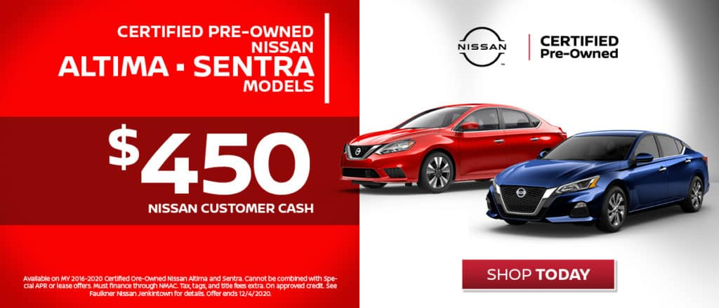 Certified Pre-Owned - $450 Nissan Customer Cash