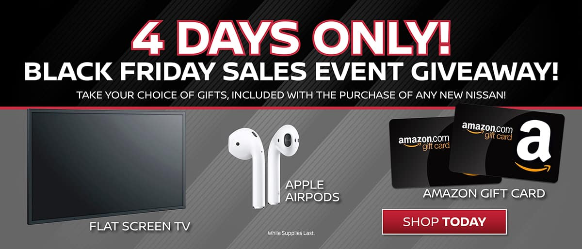 Shop New Nissan Black Friday Giveaway