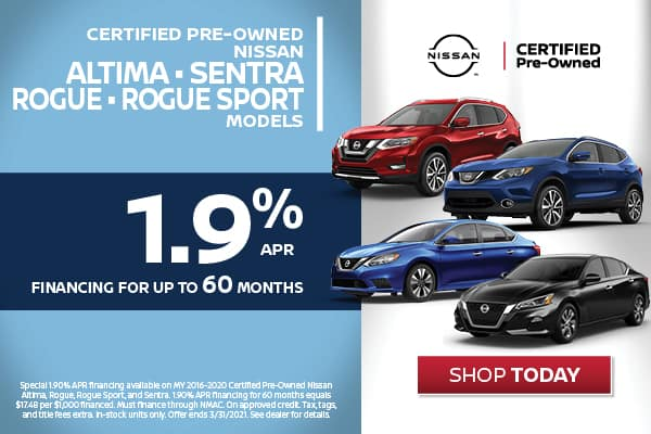 Certified Pre-Owned - 1.9% Financing Available