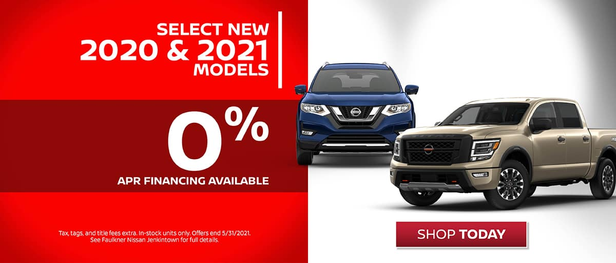 Shop New Nissan 0% Financing