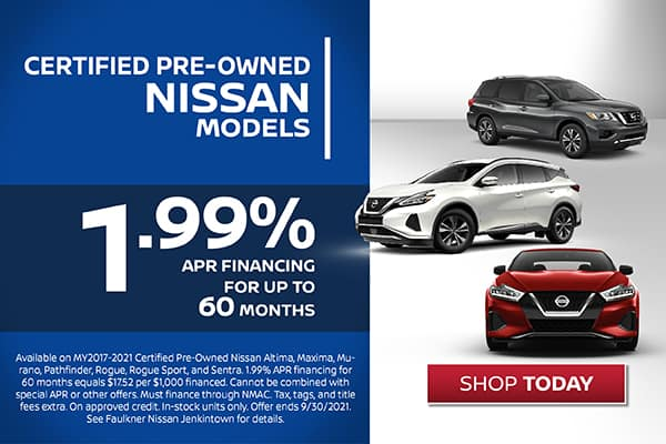 Certified Pre-Owned Nissan Models