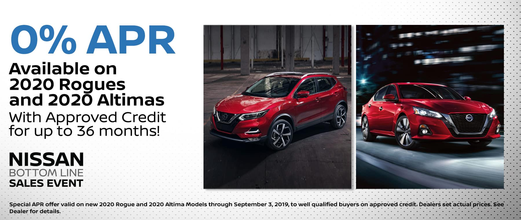 Rogue/Altima APR August