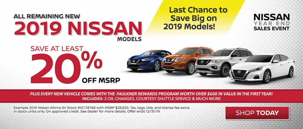 20% off All 2019 Nissans!