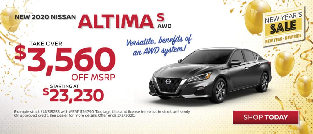 Save on New 2020 Nissan Altima S