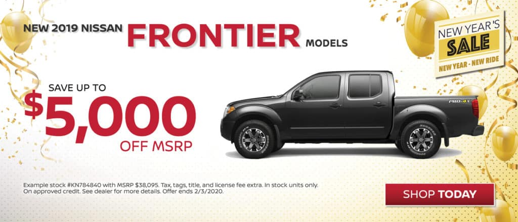 Save on New 2019 Nissan Frontier