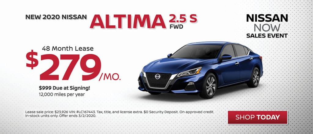 Lease a New 2020 Nissan Altima