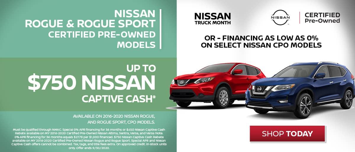 Nissan CPO Captive Cash