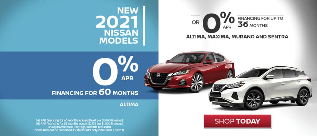 0% Financing Available on Select 2021 Models