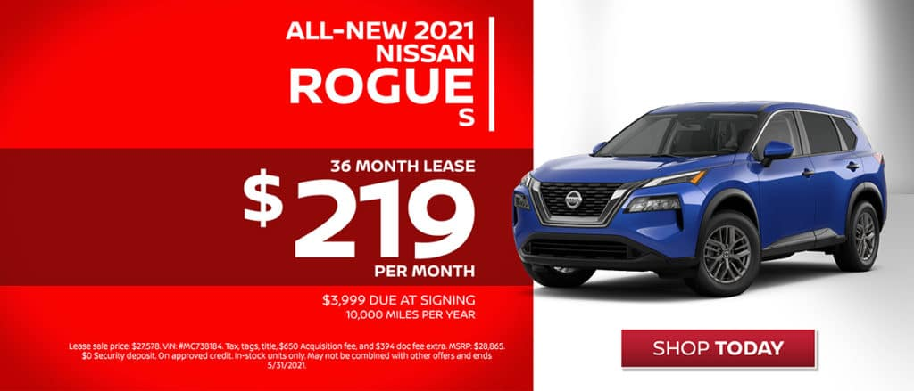 All-New 2021 Nissan Rogue Lease