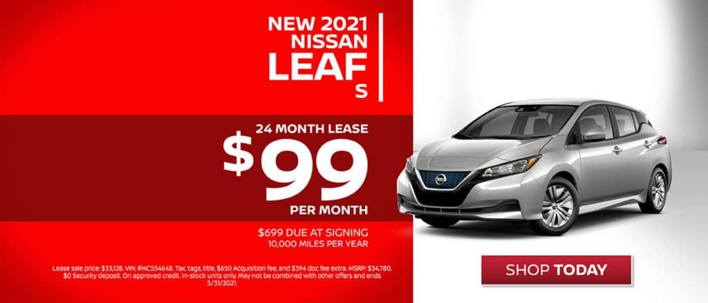 New 2021 Nissan Leaf Lease