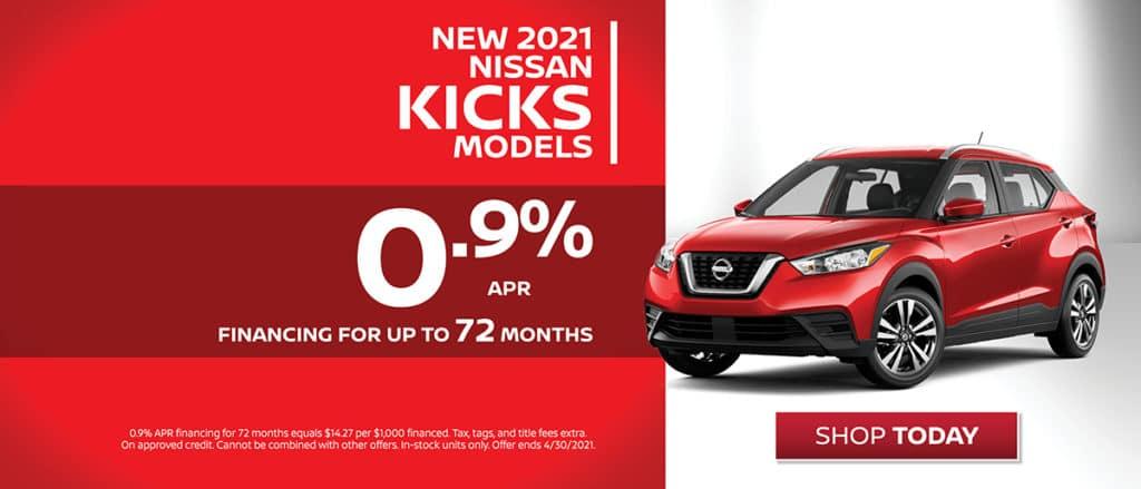 New 2021 Nissan Kicks Financing