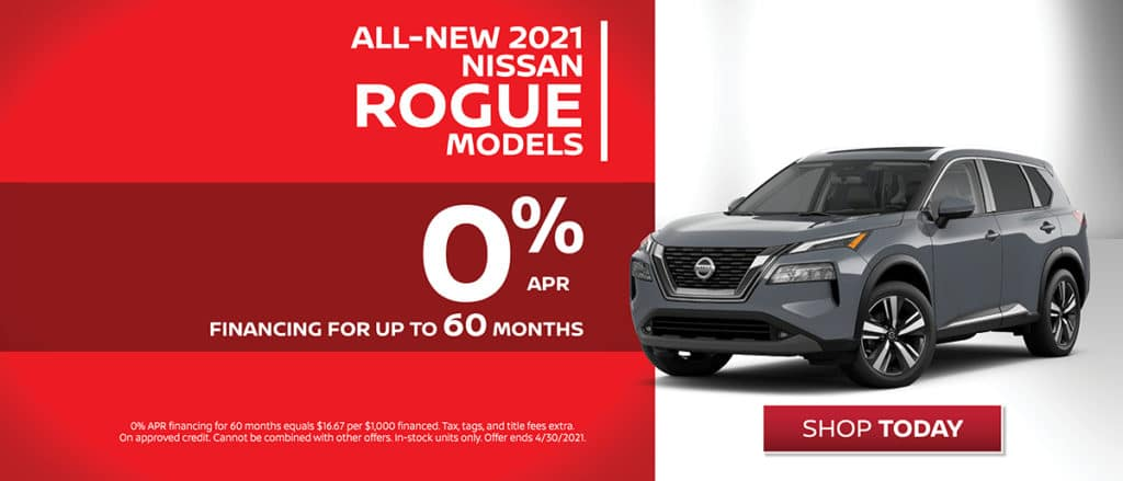 All-New 2021 Nissan Rogue Financing