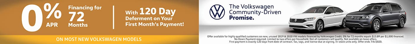 0% on Most New VW Models