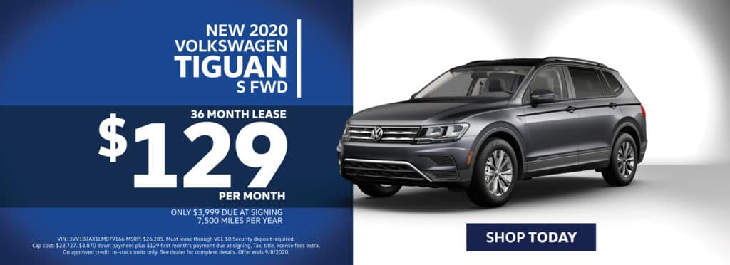 Lease a New 2020 Volkswagen Tiguan