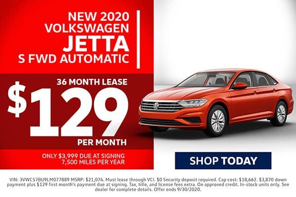New 2020 Volkswagen Jetta Lease