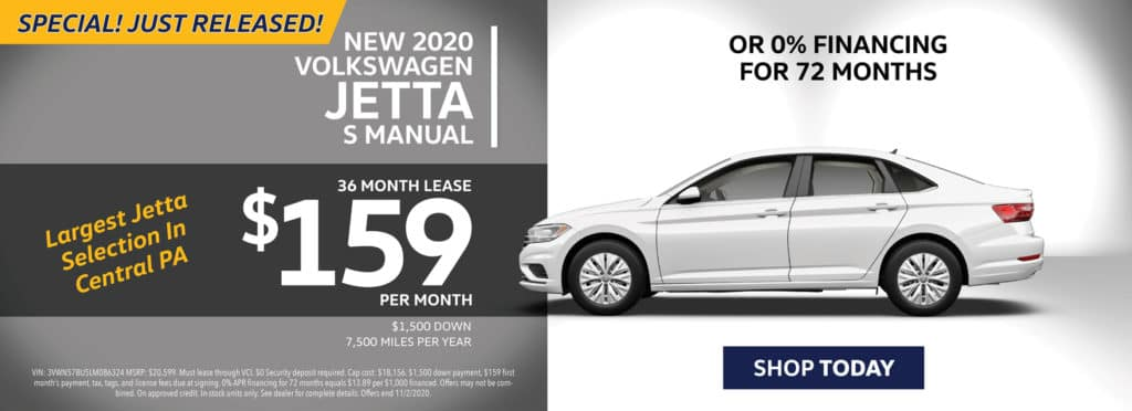 Special New 2020 Jetta Lease