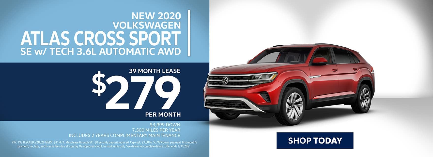 New 2020 Volkswagen Atlas Cross Sport